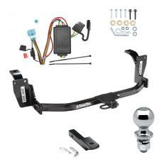 "Trailer Tow Hitch For 10-12 Honda Accord Crosstour Complete Package w/ Wiring Draw Bar and 2"" Ball"