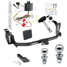 "Trailer Tow Hitch For 13-15 Honda Crosstour Deluxe Package Wiring 2"" and 1-7/8"" Ball and Lock"