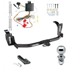 "Trailer Tow Hitch For 13-15 Honda Crosstour Complete Package w/ Wiring Draw Bar and 2"" Ball"