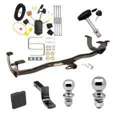 """Trailer Tow Hitch For 11-13 Ford Fiesta 4 Dr. Sedan Deluxe Package Wiring 2"""" and 1-7/8"""" Ball and Lock"""