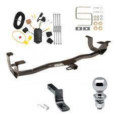"""Trailer Tow Hitch For 11-13 Ford Fiesta 4 Dr. Sedan Complete Package w/ Wiring Draw Bar and 2"""" Ball"""