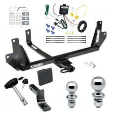 "Trailer Tow Hitch For 07-11 BMW 328i Sedan xDrive 07-08 328xi Deluxe Package Wiring 2"" and 1-7/8"" Ball and Lock"