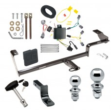 """Trailer Tow Hitch For 13-20 Acura ILX Except Hybrid Deluxe Package Wiring 2"""" and 1-7/8"""" Ball and Lock"""