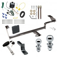 "Trailer Tow Hitch For 06-11 Acura CSX Canada Only Deluxe Package Wiring 2"" and 1-7/8"" Ball and Lock"