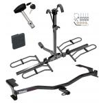 Trailer Tow Hitch For 10-12 Ford Fusion Lincoln MKZ Mercury Milan Platform Style 2 Bike Rack w/ Hitch Lock and Cover