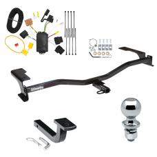 "Trailer Tow Hitch For 10-12 Ford Fusion Complete Package w/ Wiring Draw Bar and 2"" Ball"