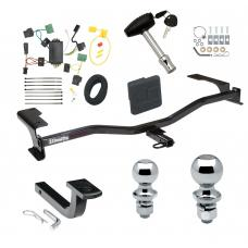 """Trailer Tow Hitch For 10-11 Mercury Milan Deluxe Package Wiring 2"""" and 1-7/8"""" Ball and Lock"""