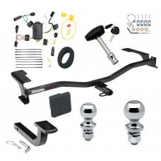 """Trailer Tow Hitch For 10-12 Lincoln MKZ Deluxe Package Wiring 2"""" and 1-7/8"""" Ball and Lock"""