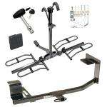 Trailer Tow Hitch For 05-14 Volkswagen Jetta 10-14 Golf Platform Style 2 Bike Rack w/ Hitch Lock and Cover