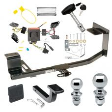 """Trailer Tow Hitch For 11-14 Volkswagen Jetta Sedan Deluxe Package Wiring 2"""" and 1-7/8"""" Ball and Lock"""