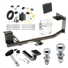 """Trailer Tow Hitch For 05-10 Volkswagen Jetta Sedan Deluxe Package Wiring 2"""" and 1-7/8"""" Ball and Lock"""