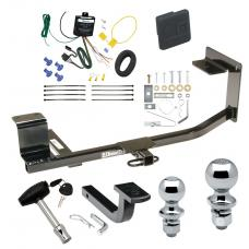 """Trailer Tow Hitch For 10-14 Volkswagen Golf Wagon Canada Only Deluxe Package Wiring 2"""" and 1-7/8"""" Ball and Lock"""