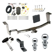 "Trailer Tow Hitch For 11-17 Nissan JUKE AWD Except Nismo Deluxe Package Wiring 2"" and 1-7/8"" Ball and Lock"