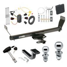 """Trailer Tow Hitch For 08-10 Dodge Avenger Deluxe Package Wiring 2"""" and 1-7/8"""" Ball and Lock"""