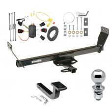 """Trailer Tow Hitch For 08-10 Dodge Avenger Complete Package w/ Wiring Draw Bar and 2"""" Ball"""
