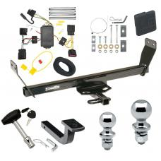 """Trailer Tow Hitch For 2011 Chrysler 200 Dodge Avenger Deluxe Package Wiring 2"""" and 1-7/8"""" Ball and Lock"""