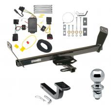 """Trailer Tow Hitch For 2011 Chrysler 200 Dodge Avenger Complete Package w/ Wiring Draw Bar and 2"""" Ball"""
