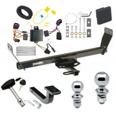 """Trailer Tow Hitch For 12-14 Chrysler 200 Dodge Avenger Deluxe Package Wiring 2"""" and 1-7/8"""" Ball and Lock"""