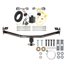 Trailer Tow Hitch For 12-18 Ford Ford Focus Trailer Hitch Tow Receiver w/ Wiring Harness Kit