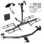 Trailer Tow Hitch For 12-18 Ford Focus Platform Style 2 Bike Rack w/ Hitch Lock and Cover