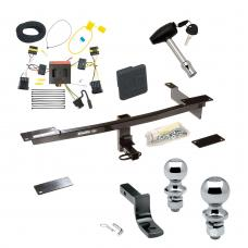 "Trailer Tow Hitch For 12-19 FIAT 500 Except Abarth Deluxe Package Wiring 2"" and 1-7/8"" Ball and Lock"