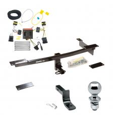 "Trailer Tow Hitch For 12-19 FIAT 500 Except Abarth Complete Package w/ Wiring Draw Bar and 2"" Ball"