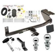 """Trailer Tow Hitch For 12-17 Mazda 5 Deluxe Package Wiring 2"""" and 1-7/8"""" Ball and Lock"""