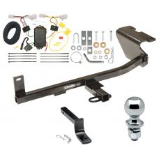 """Trailer Tow Hitch For 12-17 Mazda 5 Complete Package w/ Wiring Draw Bar and 2"""" Ball"""