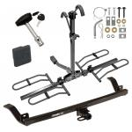 Trailer Tow Hitch For 12-17 Chevy Sonic 4 Dr. Sedan Platform Style 2 Bike Rack w/ Hitch Lock and Cover