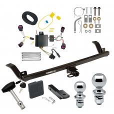"""Trailer Tow Hitch For  12-16 Chevy Sonic 4 Dr. Sedan Deluxe Package Wiring 2"""" and 1-7/8"""" Ball and Lock"""