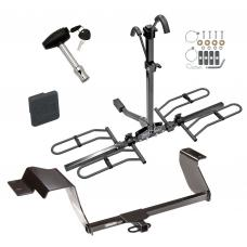 Trailer Tow Hitch For 12-19 Chevy Sonic 5 Dr. Hatchback Platform Style 2 Bike Rack w/ Hitch Lock and Cover