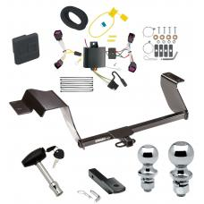 """Trailer Tow Hitch For 12-16 Chevy Sonic 5 Dr. Hatchback Deluxe Package Wiring 2"""" and 1-7/8"""" Ball and Lock"""