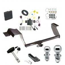 """Trailer Tow Hitch For 17-19 Chevy Sonic 5 Dr. Hatchback Deluxe Package Wiring 2"""" and 1-7/8"""" Ball and Lock"""