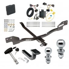 """Trailer Tow Hitch For 12-13 Volkswagen Beetle Gas Turbo Except Convertible Deluxe Package Wiring 2"""" and 1-7/8"""" Ball and Lock"""