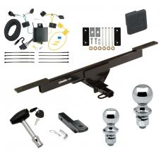 "Trailer Tow Hitch For 12-15 Volkswagen Passat 4 Dr. Sedan Deluxe Package Wiring 2"" and 1-7/8"" Ball and Lock"
