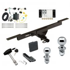 "Trailer Tow Hitch For 16-19 Volkswagen Passat Deluxe Package Wiring 2"" and 1-7/8"" Ball and Lock"
