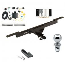 "Trailer Tow Hitch For 16-19 Volkswagen Passat Complete Package w/ Wiring Draw Bar and 2"" Ball"