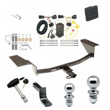 """Trailer Tow Hitch For 11-16 Chevy Cruze Deluxe Package Wiring 2"""" and 1-7/8"""" Ball and Lock"""