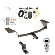 """Trailer Tow Hitch For 11-16 Chevy Cruze Complete Package w/ Wiring Draw Bar and 2"""" Ball"""