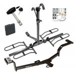 Trailer Tow Hitch For 12-20 KIA Rio Sedan 12-17 Hyundai Accent Platform Style 2 Bike Rack w/ Hitch Lock and Cover