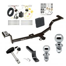 """Trailer Tow Hitch For 12-17 Hyundai Accent 4 Dr. Sedan Deluxe Package Wiring 2"""" and 1-7/8"""" Ball and Lock"""