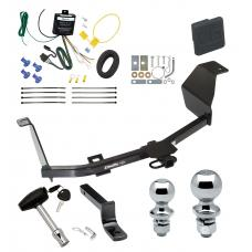 """Trailer Tow Hitch For 12-17 Nissan Versa 4 Dr. Sedan Deluxe Package Wiring 2"""" and 1-7/8"""" Ball and Lock"""