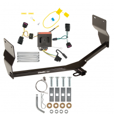 Trailer Tow Hitch For 13-16 Dodge Dart Trailer Hitch Tow Receiver w/ Wiring Harness Kit