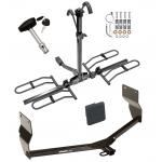 Trailer Tow Hitch For 13-16  Dodge Dart Platform Style 2 Bike Rack w/ Hitch Lock and Cover