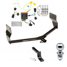 """Trailer Tow Hitch For 13-16  Dodge Dart Complete Package w/ Wiring Draw Bar and 2"""" Ball"""