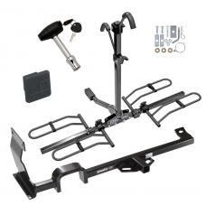 Trailer Tow Hitch For 11-17 Nissan JUKE FWD Except Nismo and RS Platform Style 2 Bike Rack w/ Hitch Lock and Cover