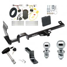 "Trailer Tow Hitch For 11-17 Nissan JUKE FWD Except Nismo and RS Deluxe Package Wiring 2"" and 1-7/8"" Ball and Lock"