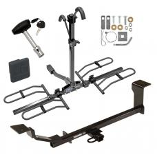 Trailer Tow Hitch For 13-15 Chevrolet Spark Platform Style 2 Bike Rack w/ Hitch Lock and Cover