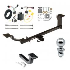 "Trailer Tow Hitch For 13-15 Chevrolet Spark Complete Package w/ Wiring Draw Bar and 2"" Ball"