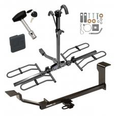Trailer Tow Hitch For 13-15 Chevy Spark LT Ground Effects Platform Style 2 Bike Rack w/ Hitch Lock and Cover